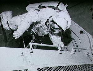 Joseph P. Allen - Allen training for planned STS-5 spacewalk.