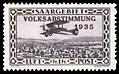 Saar 1934 197 Volksabstimmung, Flugpost Breguet 14.jpg