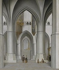 Interior of St. Bavochurch in Haarlem