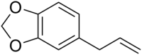 Skeletal formula of safrole