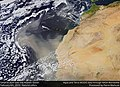 Saharan dust over the Atlantic Ocean (33132810158).jpg