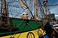 Sail Amsterdam - De Ruyterkade - View NE on Frigate Shtandart 1703 - Replica 1999 the first ship of Czar Peter I's Baltic Fleet.jpg