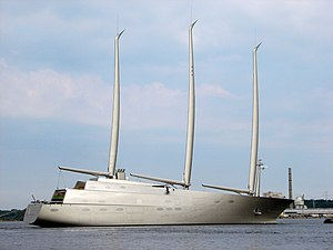 A (sailing yacht) - Image: Sailing Yacht A, starboard