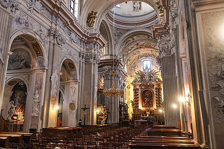 Saint Anne's Church is the leading example of Baroque architecture in Poland Saint Anne church 2019 01.jpg
