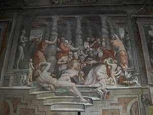 Sala dei Cento Giorni - Image: Sala dei Cento Giorni Giorgio Vasari 1547 Palazzo della Cancelleria istoria 3