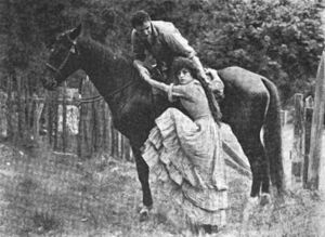 Beatriz Michelena - During the shooting of Salomy Jane, Michelena posed for a publicity still with leading man House Peters.