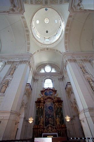 Kollegienkirche, Salzburg - Image: Salzburg Kollegienkirche main vault