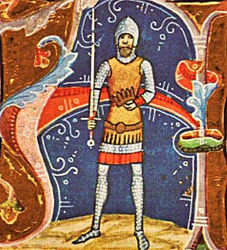 Samuel Aba - Depicted in the Illuminated Chronicle