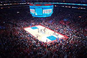 2015 NBA Playoffs - The Los Angeles Clippers hosting the San Antonio Spurs in Game 5 of the First Round series at the Staples Center.