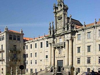 Fachada desde la Plaza de la Inmaculada).