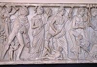 Relief Dewa-Dewi Yunani.