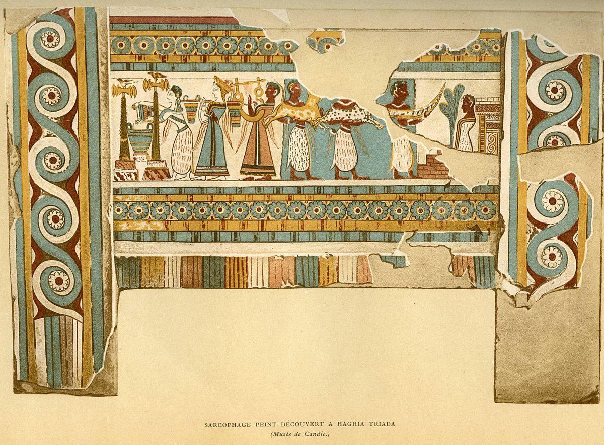 Minoan Art Sarcophage d'Aghia Tri...