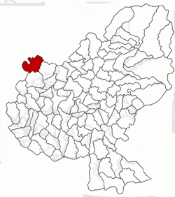 Location of Sărmașu