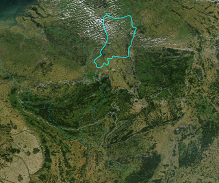Satellitenbild des Niederrheinischen Tieflandes