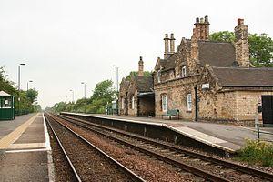Saxilby - Saxilby railway station in 2008