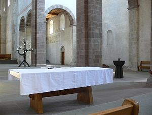 Communion table - Communion table in the Münster in Schaffhausen, Switzerland.