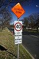 School zone sign on Donaldson Street in Braddon.jpg