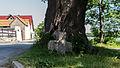 """Schoppendorf Am östlichen Dorfeingang links an der Straße unter der Linde Steinkreuz """"Schwedenstein"""".jpg"""