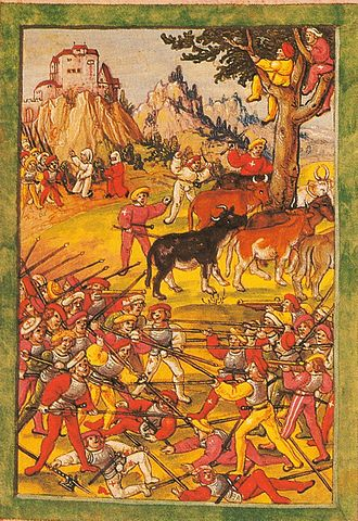 Cattle raiding - A cattle raid during the Swabian War, 1499