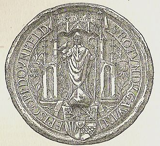 Poetry of Scotland - The seal of Gavin Douglas as Bishop of Dunkeld