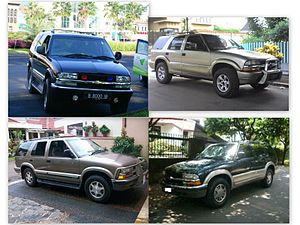 1999-2002 Chevrolet Blazer and Montera