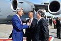 Secretary Kerry Chats With USEU Ambassador Gardner, Deputy Chief of Mission Wood Upon Arriving in Belgium (14497048524).jpg