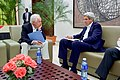 Secretary Kerry Speaks With U.S. Special Envoy for the Colombian Peace Process Aronson Before Meetings With Colombian and FARC Peace Negotiators in Havana, Cuba (25850848732).jpg