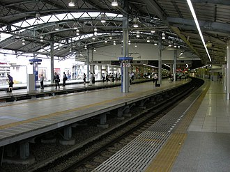 Ikebukuro Station - The Seibu Ikebukuro Line platform in September 2007