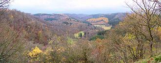 Selke (river) - View of the Selke Valley from Old Falkenstein Castle