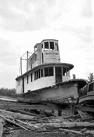 Selkirk (sternwheeler) abandoned at Golden BC 1926 BCA B-04359.JPG
