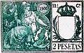 Sello de 1900 de 2 pesetas verde Lorcha Alicante.jpg