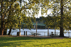 Sellwood Park along the Willamette River