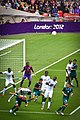 Senegal defends vs cross, Mexico vs Senegal @ London 2012 -11.jpg