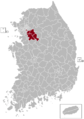 Seongnam Postal central office precinct map.png