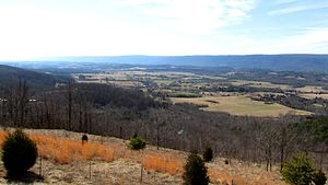 Sequatchie County, Tennessee - View over Sequatchie County from an overlook off TN-111