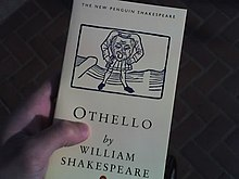 Shakespeare's Othello programme in hand.jpg