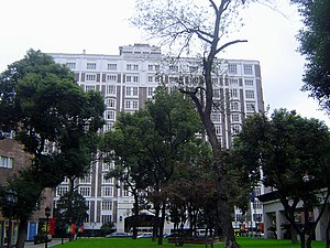 Jinjiang Hotel - The former Cathay Mansion, now one of the two main buildings of Jinjiang Hotel, viewed from inside the hotel grounds.