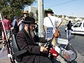Sheikh Jarrah Demonstration 16 July 2010 Neturei Karta protester.JPG
