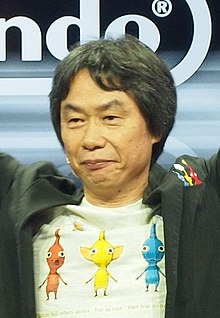 Photographic head shot of Shigeru Miyamoto