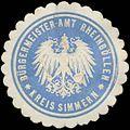 Siegelmarke Bürgermeister-Amt Rheinböllen Kreis Simmern W0382846.jpg