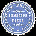 Siegelmarke Herzogthum Braunschweig - Gemeinde Wieda W0226400.jpg