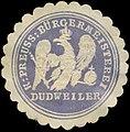 Siegelmarke K.Pr. Bürgermeisterei Dudweiler W0383090.jpg