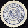 Siegelmarke Magistrat der Stadt Zduny W0229193.jpg