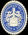 Siegelmarke Siegel des Gemeinderats der Stadt Schleiz W0211822.jpg
