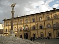 Siena Lupa in front of palazzo.JPG