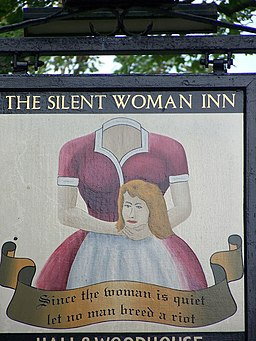 Sign for the Silent Woman Inn - geograph.org.uk - 543879