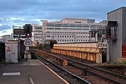 Signals, Salford Central railway station (geograph 4500625).jpg