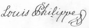 Louis Philippe I's signature