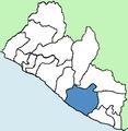 Sinoe County Liberia locator.png