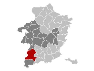 Sint-Truiden - Image: Sint Truiden Limburg Belgium Map